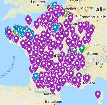 Carte interactive de la mobilisation contre les réformes Blanquer en France #bloquonsblanquer école de la confiance